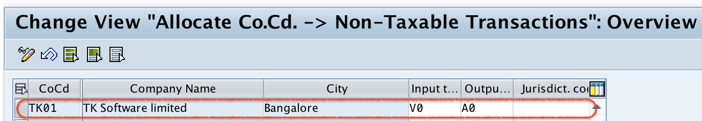 Assign Tax Codes for Non Taxable Transactions SAP