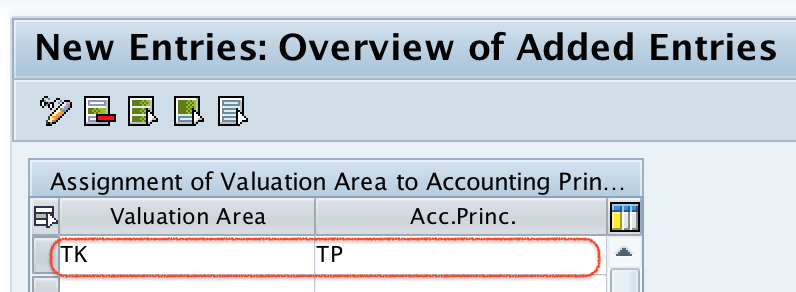 Assign Valuation areas and Accounting Principles in SAP