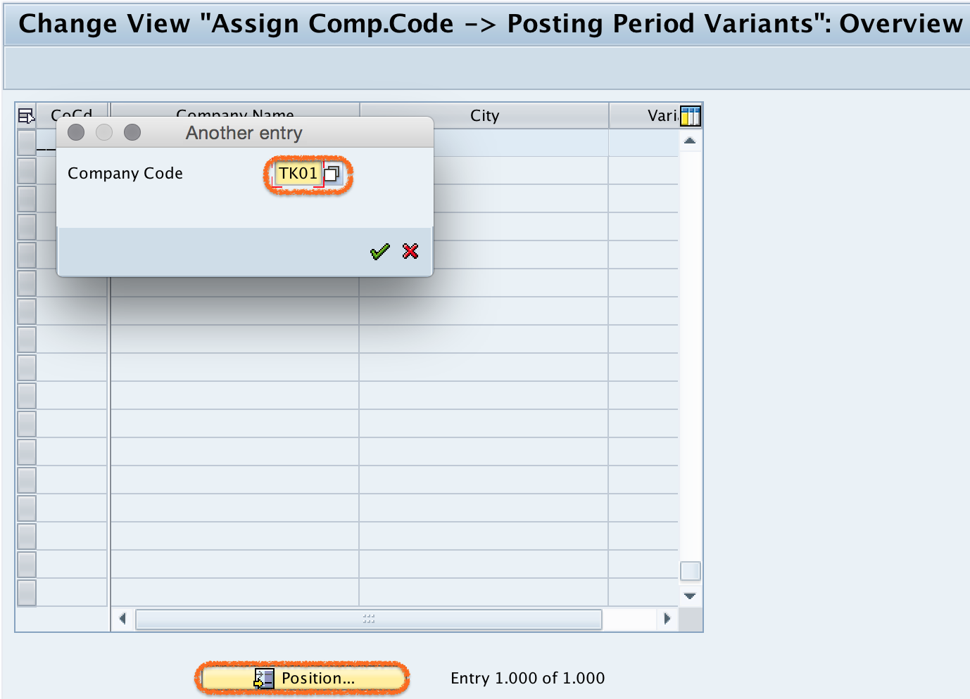 Assign Variants to Company Code in SAP