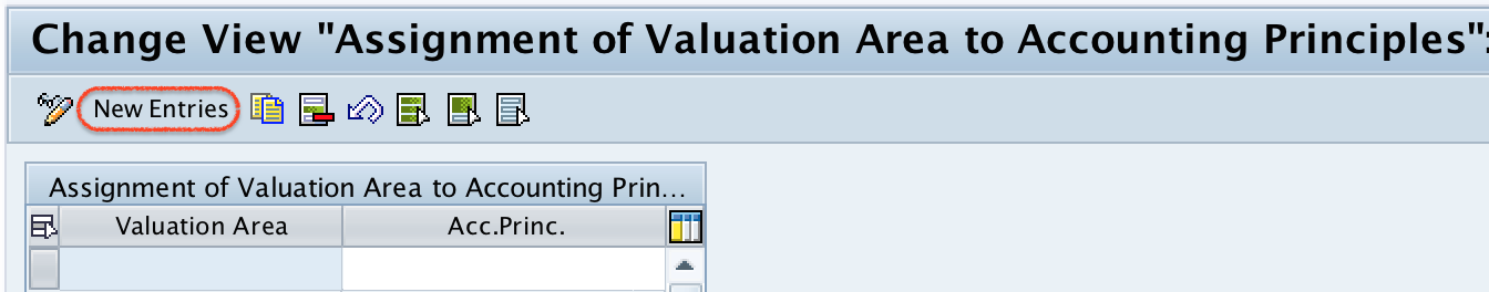 Assignment of Valuation Area to Accounting Principles