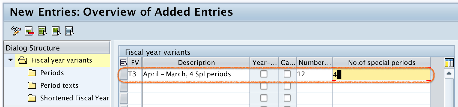 Create New Fiscal Year Variant in SAP