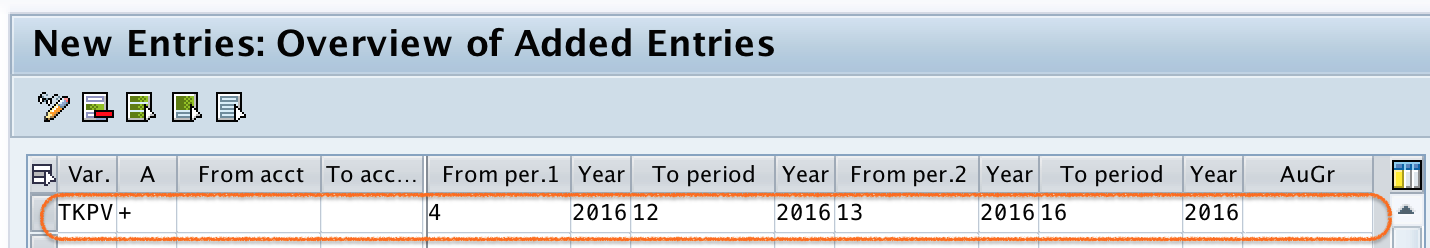 Define Open and Close Posting Periods Variant in SAP