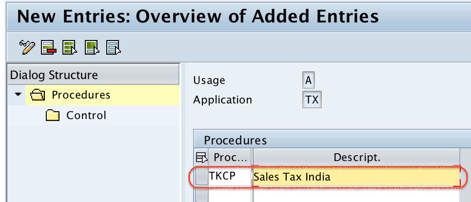 Define Tax Procedure in SAP