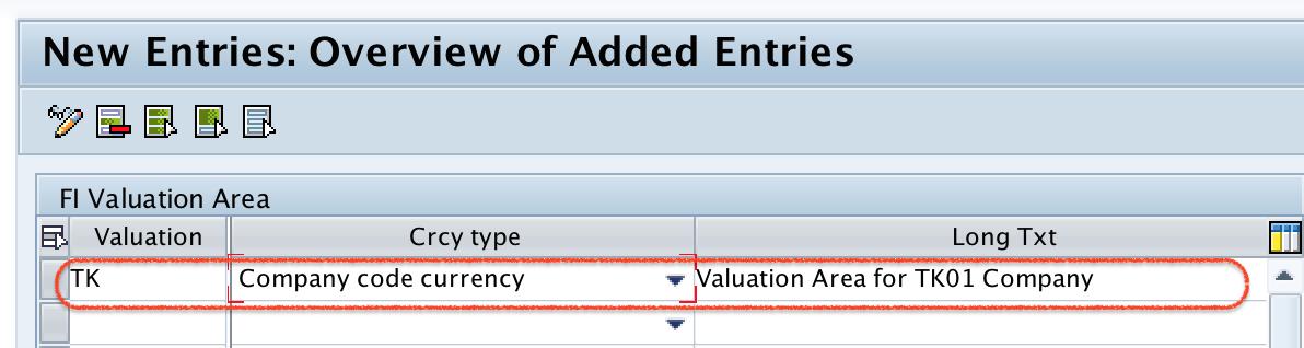 Define Valuation Areas in SAP FI