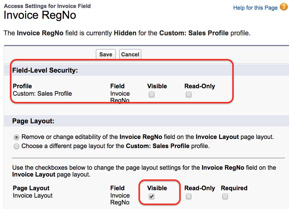 FLS field level security