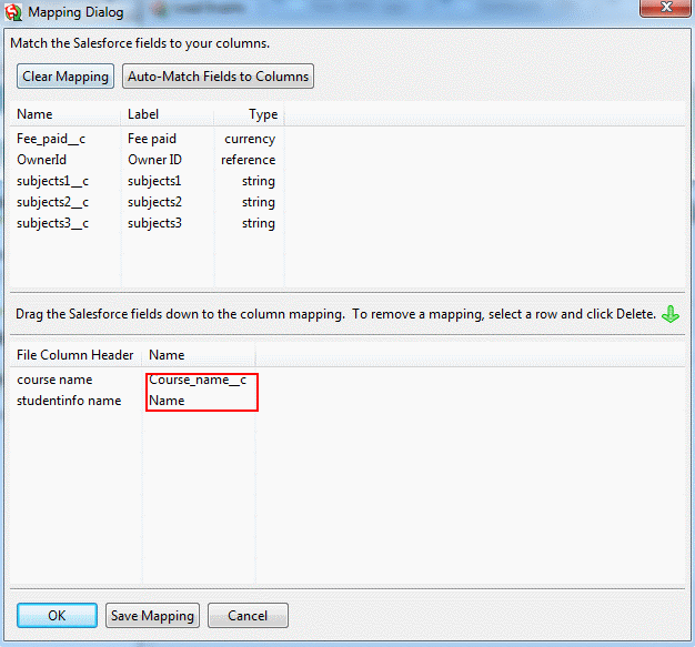 Inserting a Record using Apex Data Loader