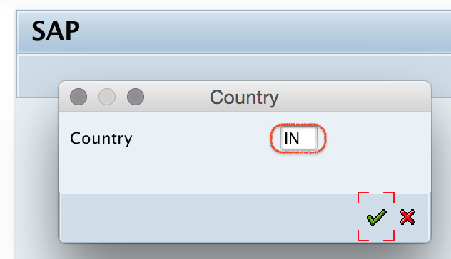SAP Country Key IN