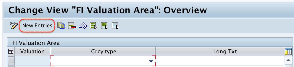 SAP FI Valuation Area