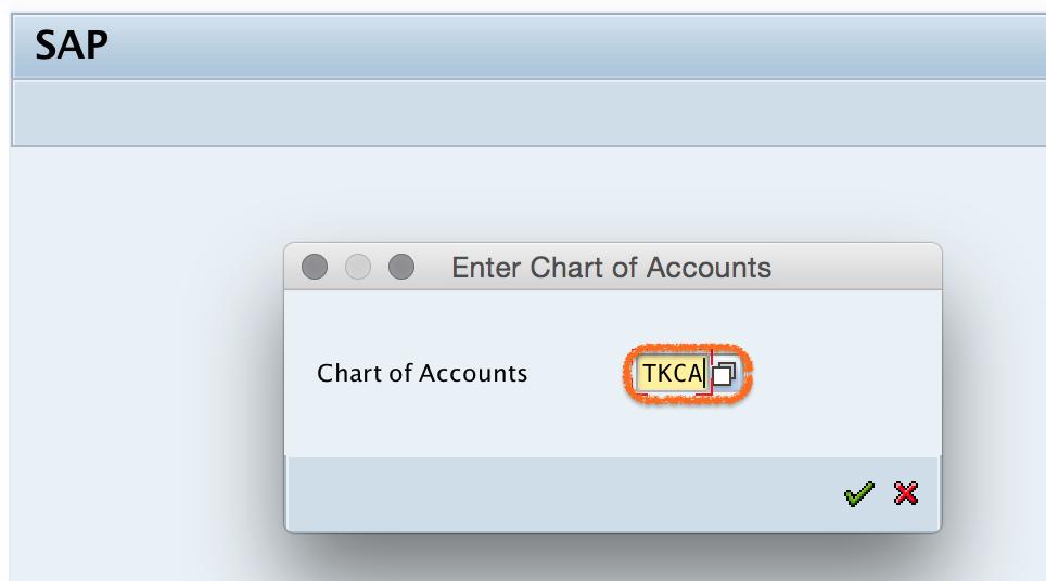 SAP chart of accounts key