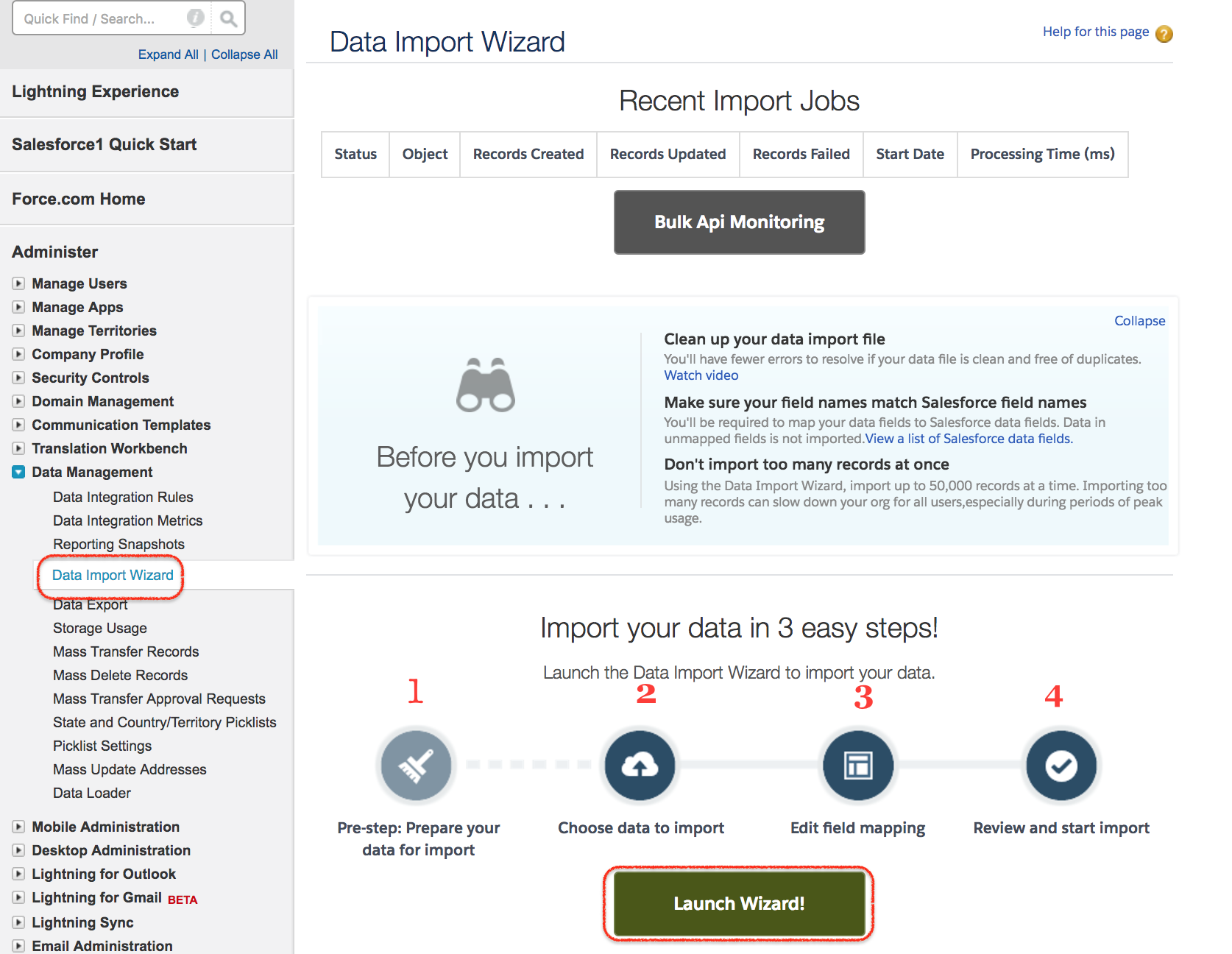Salesforce Data Import Wizard | Insert, Update, Upsert