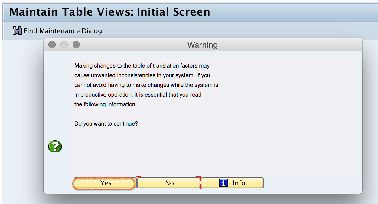 Warning message translation ratios