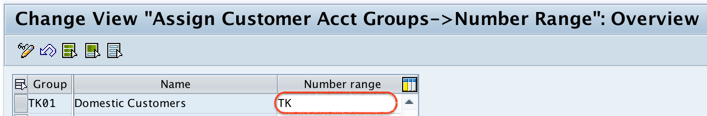 Assign Number Ranges to Customer Account Groups in SAP