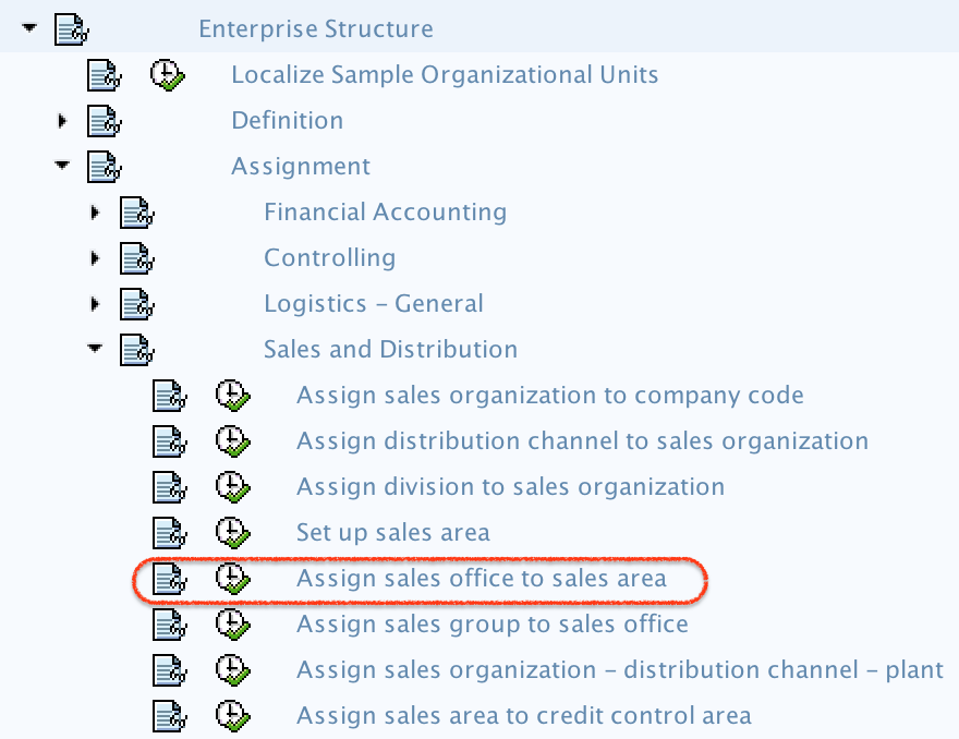Assign Sales Office to Sales area in SAP path
