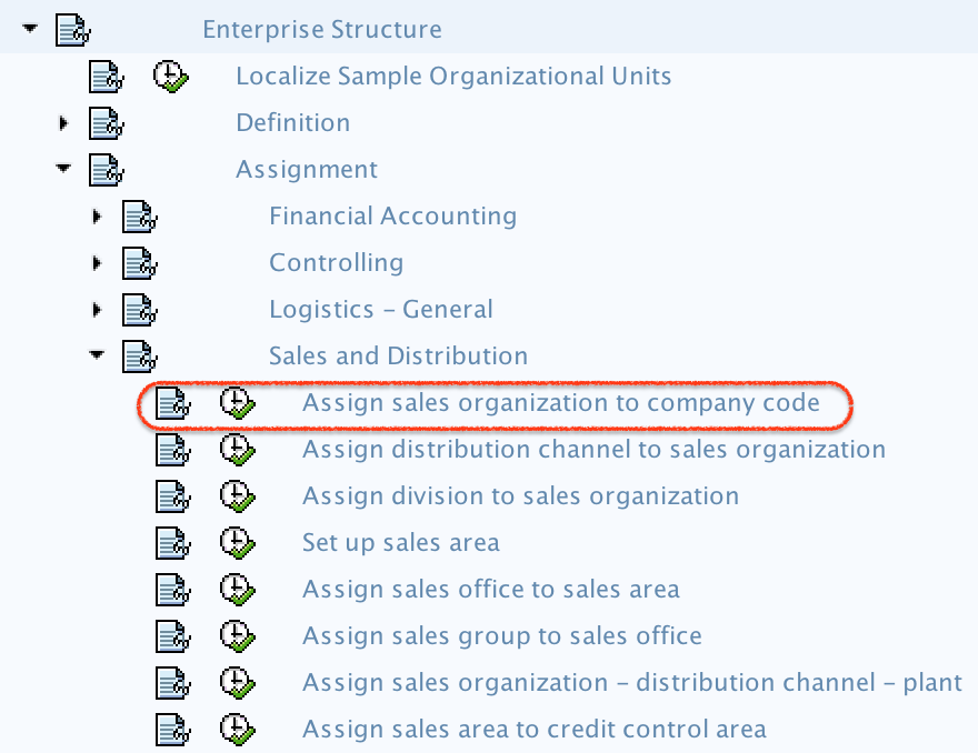 Assign Sales Organization to Company Code in SAP path