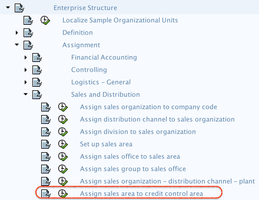 Assign sales area to credit control area in SAP