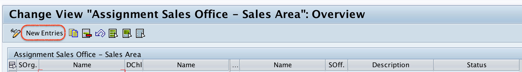 Assignment sales office sales area in SAP