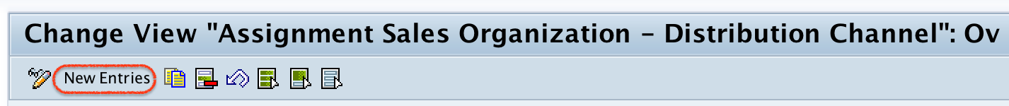 Assignment sales organization -- distribution channel