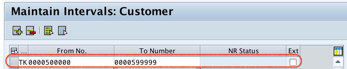 Create Number Ranges for Customer Account Groups in SAP