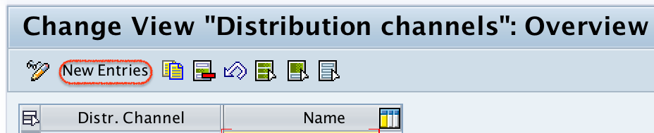 Create new distribution channel in SAP