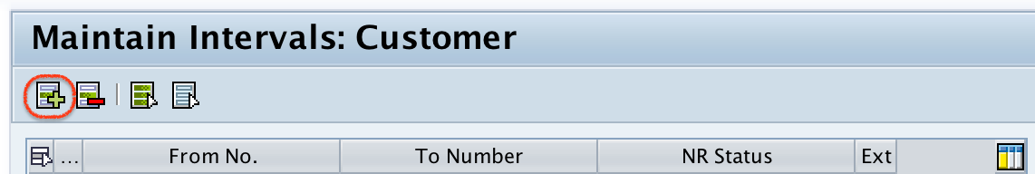 Customer accounts number range interval