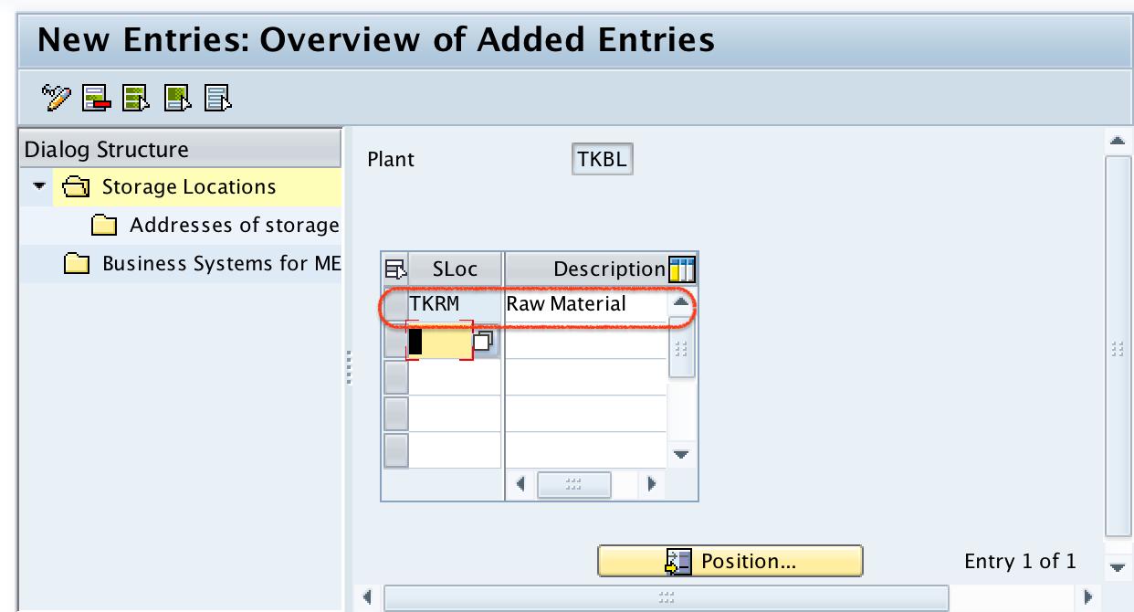 Define Storage locations in SAP