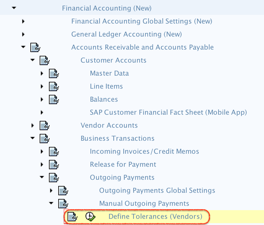 Define Tolerance Group for Customers / Vendors in SAP