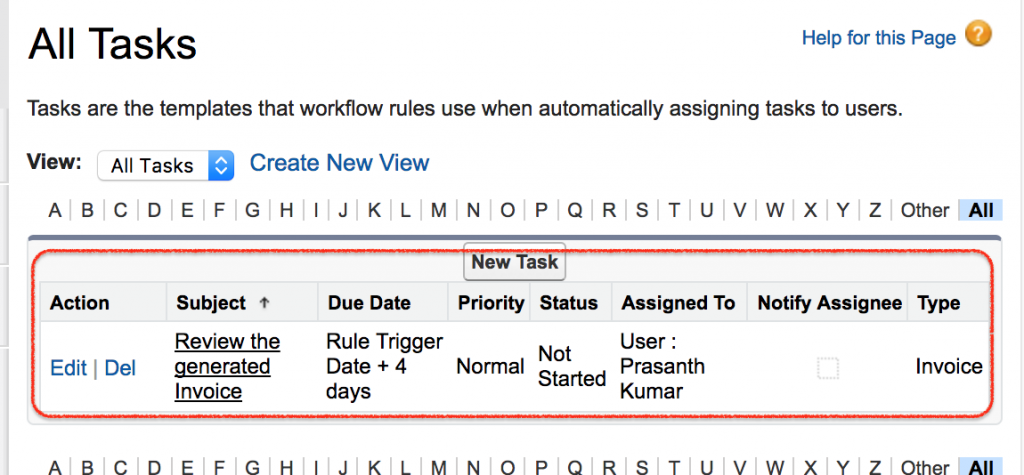 Salesforce Workflow Actions