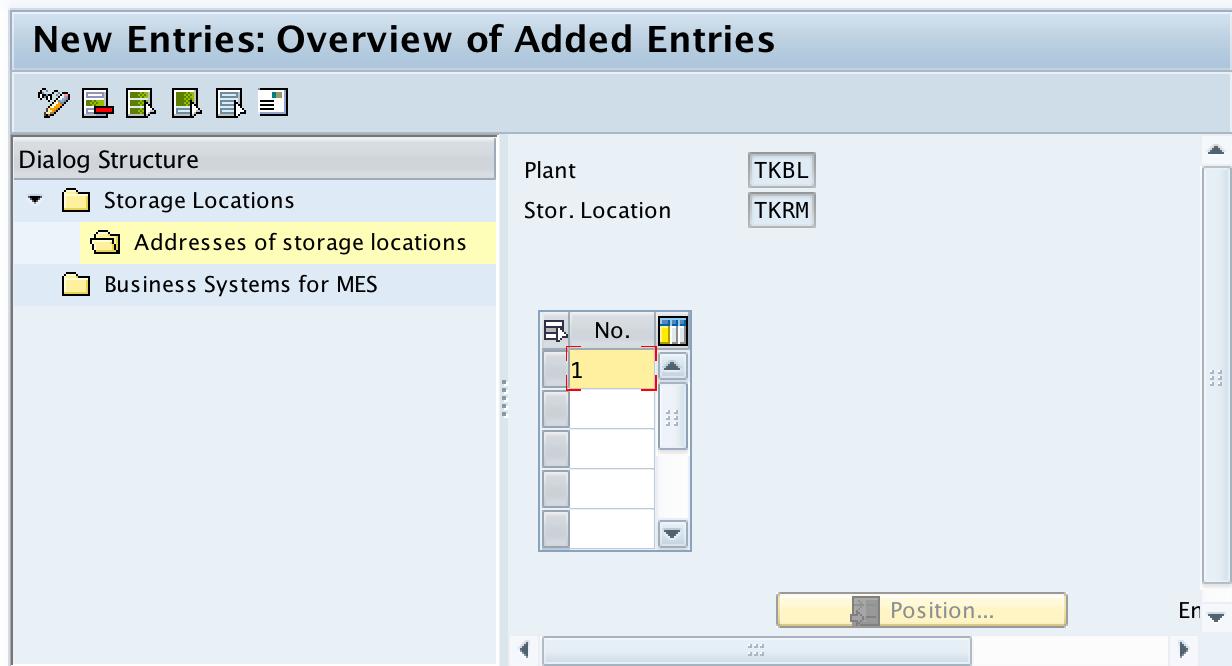 Storage Location in SAP