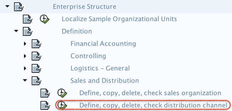 define distribution channel menu path