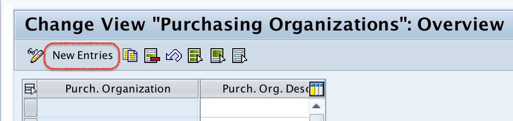 purchase organizations overview screen
