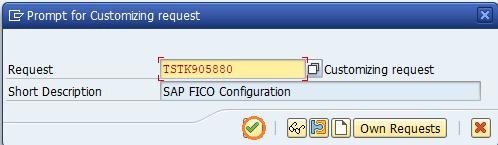 Customizing request depreciation areas SAP
