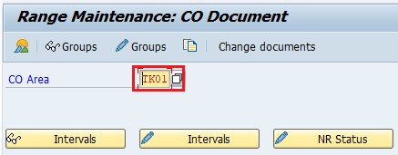 How to maintain number ranges for controlling documents in sap CO