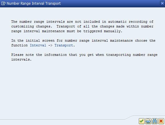 Number range interval transport