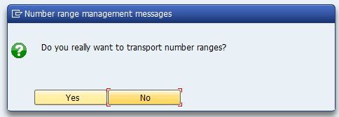 Number range management messages