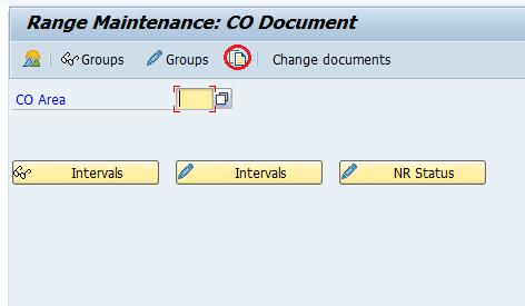 SAP Range Maintenance Co document