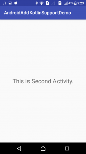 Android Application SecondActivity - www.tutorialkart.com