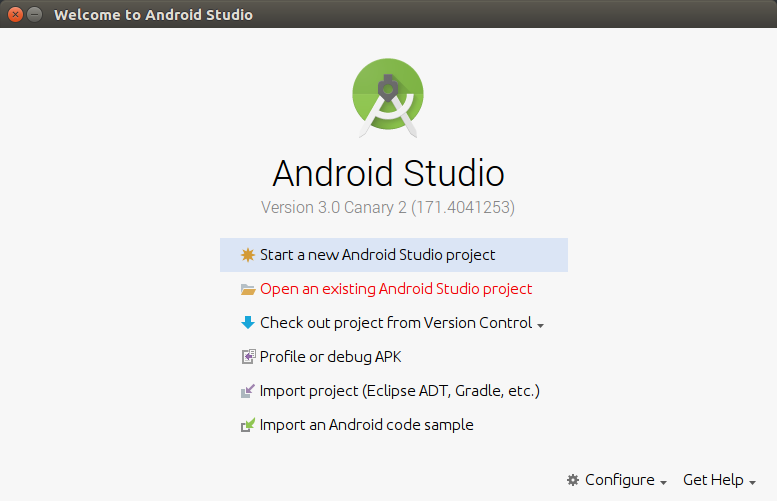 Open existing Android Studio project - Convert Java Files in Android Application to Kotlin Files or Classes - Kotlin Tutorial - www.tutorialkart.com
