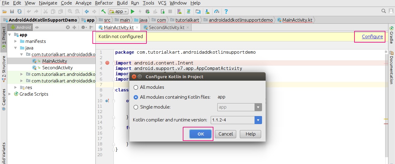 How to convert Java Files in Android Application to Kotlin Files or