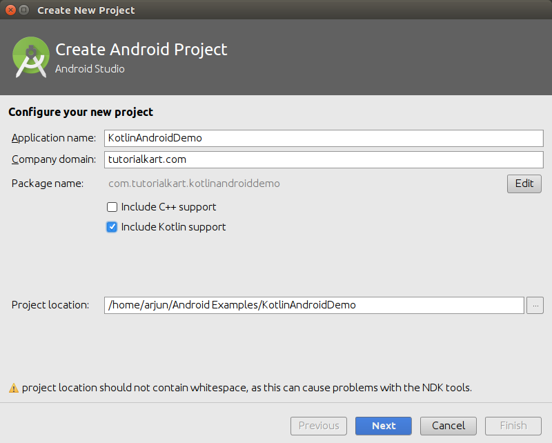How to include Kotlin support in Android Application - Hello