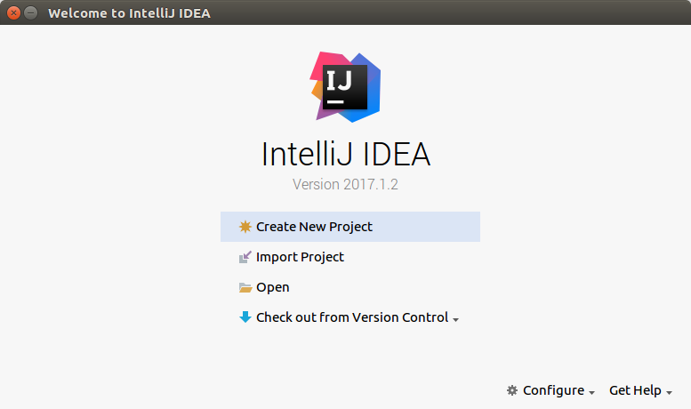 IntelliJ IDEA start up window - - Setup of Kotlin Project in IntelliJ IDEA - Kotlin Tutorial - www.tutorialkart.com