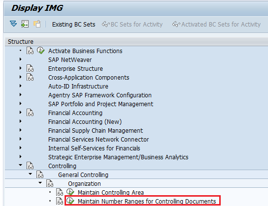 Maintain Number Ranges for Controlling Documents in SAP