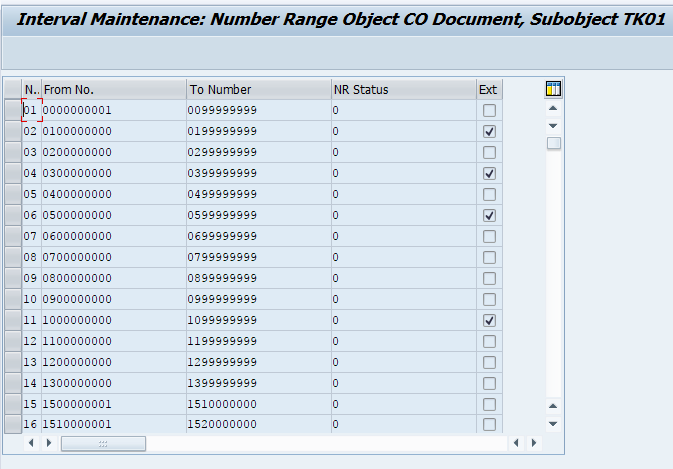 number range object co document