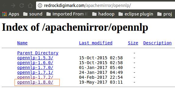 OpenNLP Mirror