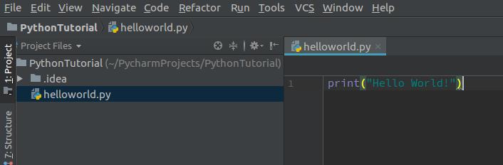 helloworld.py print statement - Python Helloworld Program - Python Tutorial - www.tutorialkart.com
