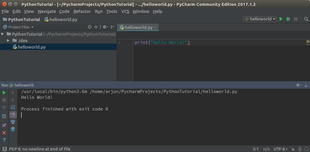 Python IDE and Python HelloWorld Program