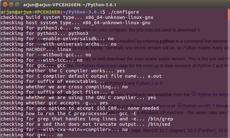 Python Installation - Configure Command - Python Tutorial - www.tutorialkart.com