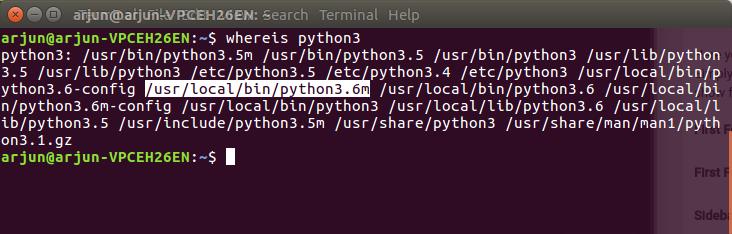 Whereis Python3 - PyCharm IDE - Python Tutorial - www.tutorialkart.com