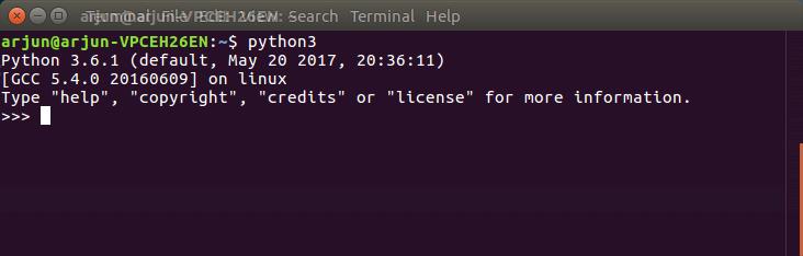 Python Installation Verification - Python Tutorial - www.tutorialkart.com