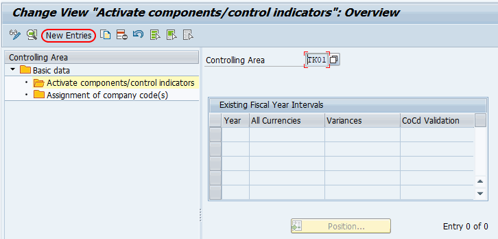 Activate components and control indicators in SAP controlling