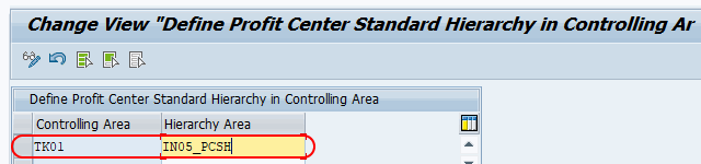 Assign controlling area to standard hierarchy in SAP